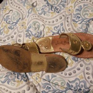 Jack Rogers Shoes - 7.5W Gold Jack Roger's Hamptons!